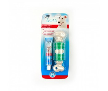 All For Paws - Sparkle Self Brushing Bone with Peanut Butter Toothpaste