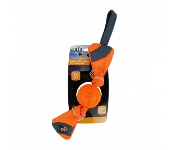 All For Paws - Outdoor Dog Ballistic TPR Toss - Orange