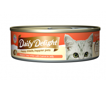 Daily Delight Cat Canned Skipjack Tuna White with Carrot in Jelly - 80g