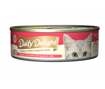 Daily Delight Cat Canned Skipjack Tuna White with Sasami in Jelly - 80g