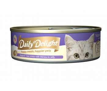 Daily Delight Cat Canned Skipjack Tuna White with Shirasu in Jelly - 80g
