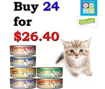 """DAILY DELIGHT CAT 'Jelly Canned Food - Bundle Mix - Buy Any 24 for $26.40"