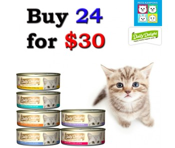 """DAILY DELIGHT CAT 'Pure Canned Food - Bundle Mix - Buy Any 24 for $30"