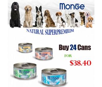 Monge Dog Canned Bundle Mix - 24 For $37.20