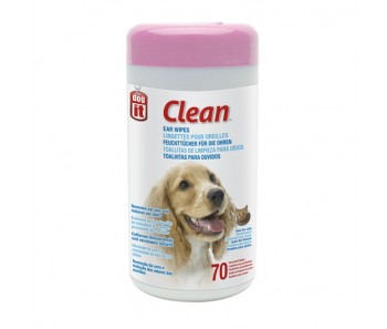 Dogit Clean Ear Wipes - 70 Unscented Wipes