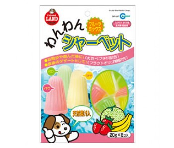 Marukan Fruits Yoghurt Sherbet For Dogs 20gx8 [DP821]