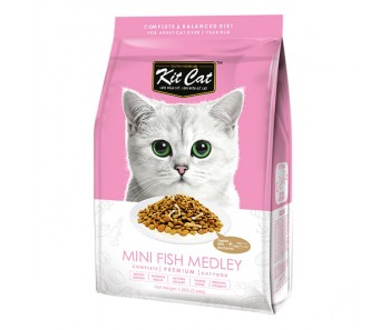 Kit Cat Dry Mini Fish Medley 1.2kg