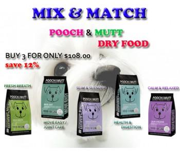 'Pooch & Mutt' Dog Food Mix & Match 2kg