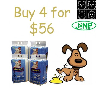 JANP DRYPETS 'PEE PADS S, M & L - BUNDLE MIX 4 FOR $56.00