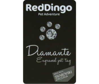 Red 'Dingo' Pet Diamante Tags