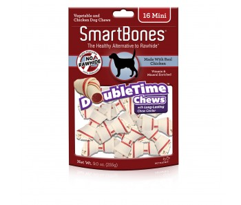 SmartBones Double Time Bones Mini - 16pcs
