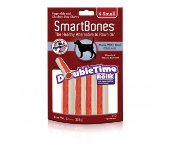 SmartBones Double Time Rolls Small - 4pk
