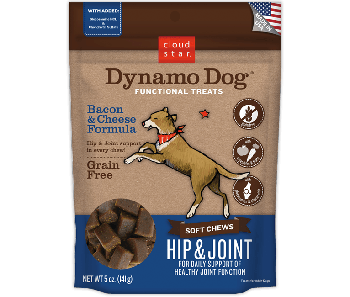 Cloud Star Dynamo Dog Bacon & Cheese Hip and Joint Soft Chews 5oz