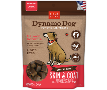 Cloud Star Dynamo Dog Salmon Formula Skin & Coat Soft Chews 5oz