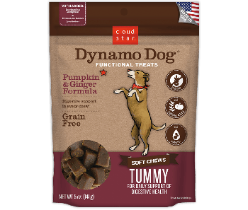 Cloud Star Dynamo Dog Pumpkin & Ginger Tummy Soft Chews 5oz