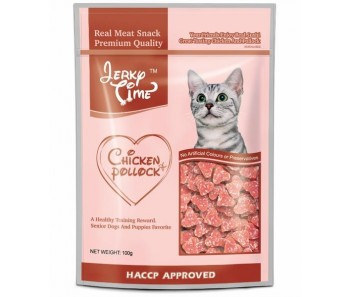 Jerky Time Cat Chicken & Pollock Heart Shape - 100g