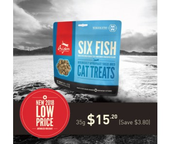 Orijen Freeze Dried Cat Treats - Six Fish 35g