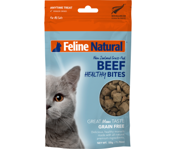Feline Natural Freeze Dried Treats Healthy Bites Beef - 50g