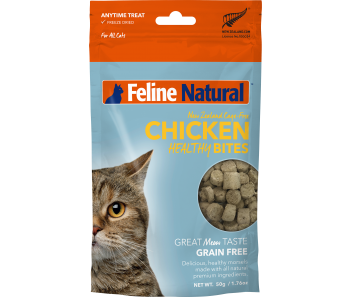 Feline Natural Freeze Dried Treats Healthy Bites Chicken - 50g