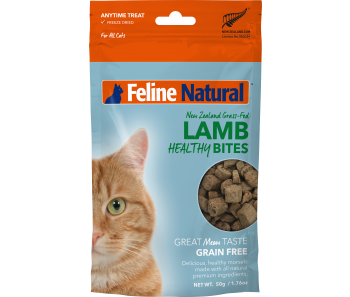 Feline Natural Freeze Dried Treats Healthy Bites Lamb - 50g