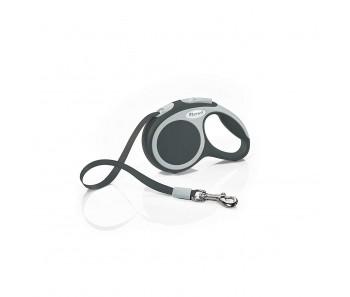 Flexi Vario Retractable Tape Leash Anthracite - 4 Sizes