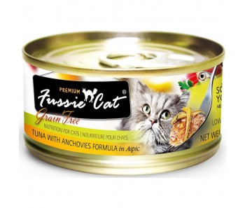 Fussie Cat Canned Premium Tuna With Anchovies In Aspic - 80g