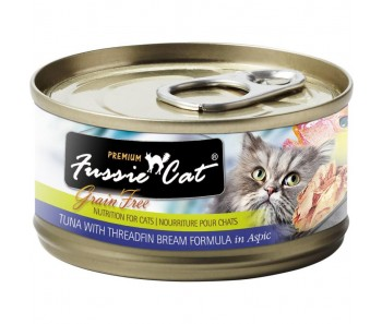 Fussie Cat Canned Premium Tuna With Threadfin Bream In Aspic - 80g