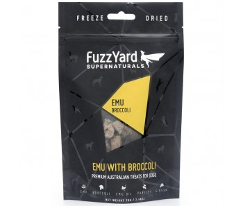 FuzzYard Supernaturals Emu With Broccoli Freeze Dried Dog Treats 70g