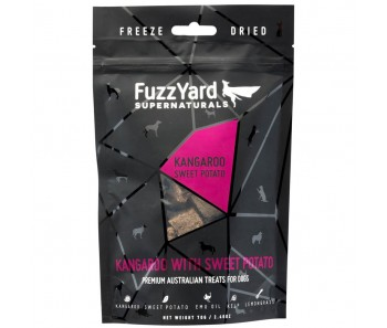 FuzzYard Supernaturals Kangaroo With Sweet Potato Freeze Dried Dog Treats 70g