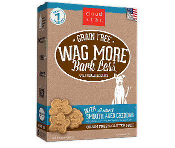 Cloud Star Wag More Bark Less Grain Free Oven Baked Smooth Aged Cheddar Dog Treats 14oz