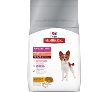 Science Diet Canine Small & Toy Breed Adult Light - Available in 4.5lbs