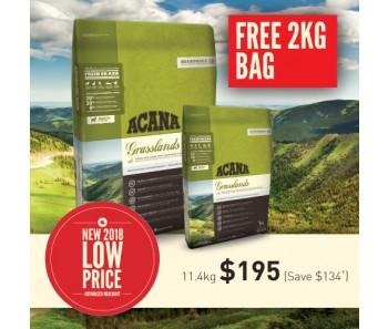 Acana Regionals Dog Grasslands - (11.4kg + F.O.C. 2kg)
