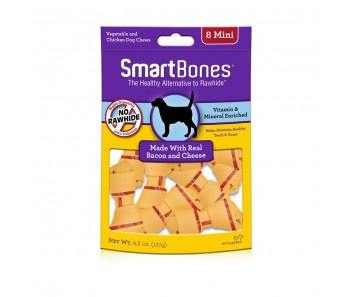 SmartBones Bacon & Cheese Classic Bone Chews Mini - 8pk