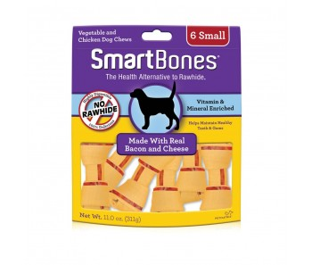 SmartBones Bacon & Cheese Classic Bone Chews Small - 6 pk