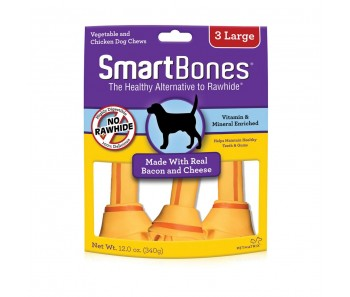 SmartBones Bacon & Cheese Classic Bone Chews Large - 3 pk