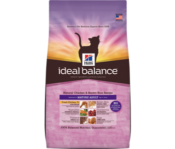 Hill's Ideal Balance Feline Mature Chicken & Brown Rice Recipe 3.5lbs