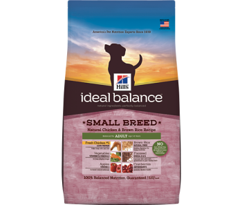 Hill's Ideal Balance Canine Adult Small Breed Chicken & Brown Rice Recipe 4lbs