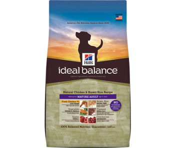 Hill's Ideal Balance Canine Mature Chicken & Brown Rice Recipe 4lbs