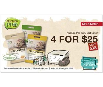 'GSS Nurture Pro Cat Tofu Litter 4 for $25