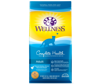 Wellness Cat Complete Health Deboned Chicken, Chicken Meal & Rice - Available in 5lbs