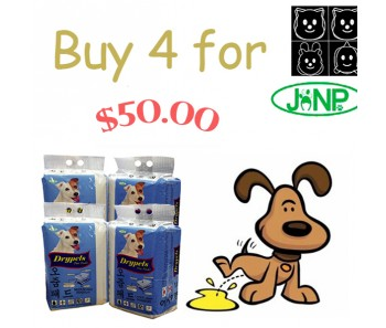 JANP DRYPETS 'PEE PADS S, M & L - BUNDLE MIX 4 FOR $50.00