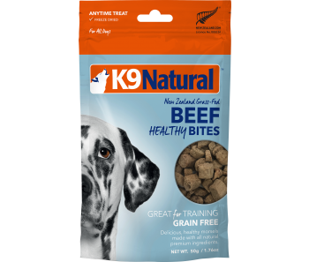 K9 Natural Freeze Dried Healthy Bites Beef Dog Treats 50g
