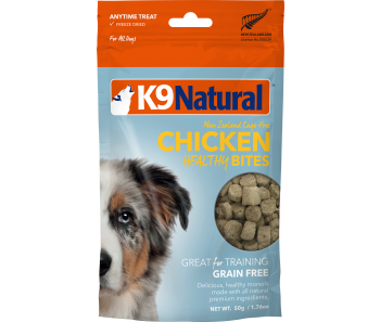 K9 Natural Freeze Dried Healthy Bites Chicken Dog Treats 50g