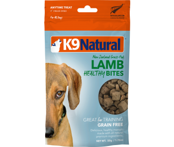 K9 Natural Freeze Dried Healthy Bites Lamb Dog Treats 50g
