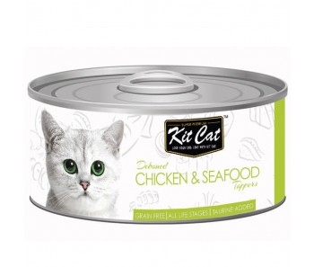 Kit Cat Canned Toppers - Deboned Chicken & Seafood 80g