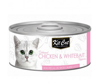 Kit Cat Canned Toppers - Deboned Chicken & Whitebait 80g