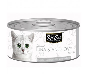 Kit Cat Canned Toppers - Deboned Tuna & Anchovy 80g