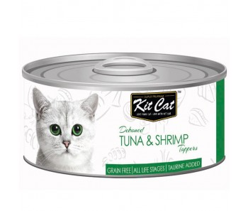 Kit Cat Canned Toppers - Deboned Tuna & Shrimp 80g