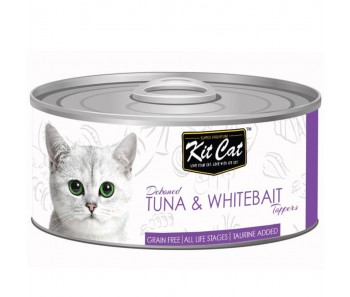 Kit Cat Canned Toppers - Deboned Tuna & Whitebait 80g