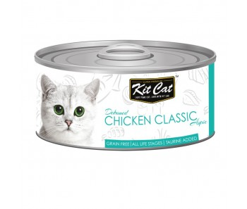 Kit Cat Canned Aspic - Deboned Chicken Classic 80g